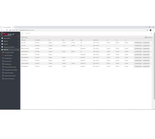 Web Pdks Giriş Çıkış Rapor Ekranı