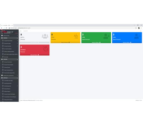 Web Pdks Ana Sayfa Ekranı